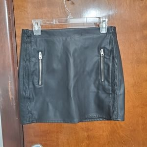 Express (new) faux leather skirt